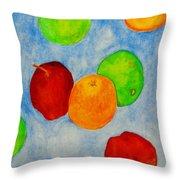 Fruit Drops Throw Pillow