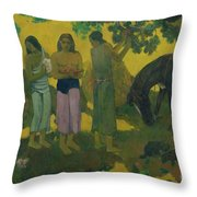 Fruit Gathering Throw Pillow