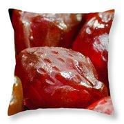 Fruit Gummies Throw Pillow