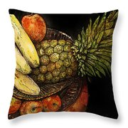 Fruit In The Round Throw Pillow