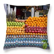 Fruit Just Stand Throw Pillow