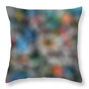 Fruit Labels Ukiyoshi Throw Pillow