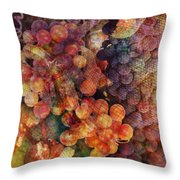 Fruit Of The Vine Throw Pillow by Barbara Berney