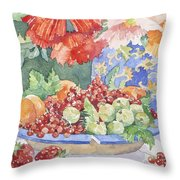 Fruit On A Plate Throw Pillow