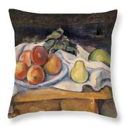 Fruit On A Table Throw Pillow