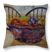 Fruit On The Table Throw Pillow