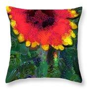 Fruit Salad Flower Throw Pillow
