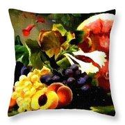 Fruit Still-life Catus 1 No 1 H B Throw Pillow