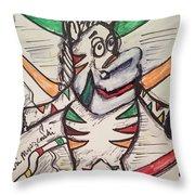 Fruit Stripe Throw Pillow