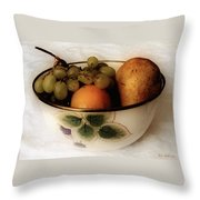 Fruitbowl Retro Throw Pillow