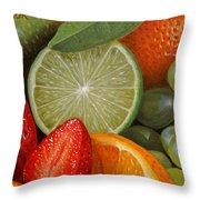 Fruitmix Throw Pillow