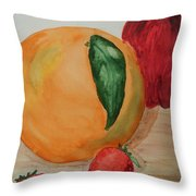 Fruits Of All Seasons Throw Pillow