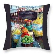 Fruitstand Rhythms Throw Pillow