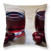 Fruity Cherry Throw Pillow by Tracy Hall