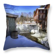Frye's Measure Mill Throw Pillow by Eric Gendron