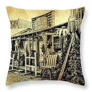 Ft. Apache General Store Throw Pillow