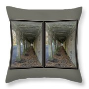 Ft. Howard Pk- Tunnel Effect - 3d Stereo X-view Throw Pillow