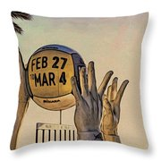 Ft Lauderdale Volleyball Time Throw Pillow