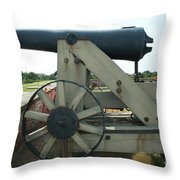 Ft Morgan Nc Cannon Throw Pillow