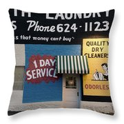 Ft Worth Cleaners  1927 81217 Throw Pillow