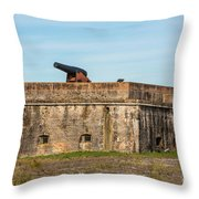 Ft. Pickens Gulf Islands National Seashore Throw Pillow