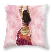 Fuchsia Throw Pillow by Brandy Woods