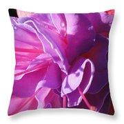 Fuchsia Frills Throw Pillow
