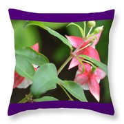 Fuchsia From Above Throw Pillow