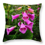 Foxglove Lure Throw Pillow