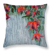 Fuchsia On The Fence Throw Pillow