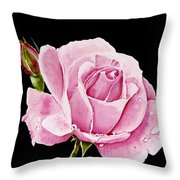 Fuchsia Rose Throw Pillow