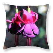 Fuchsias Indian Maid Throw Pillow
