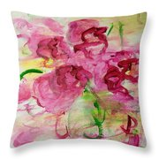 Fucia Kisses Throw Pillow