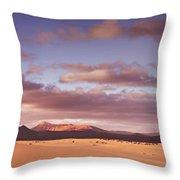 Fuerteventura Desert Landscape Throw Pillow