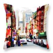 Fujianese Neighborhood Throw Pillow