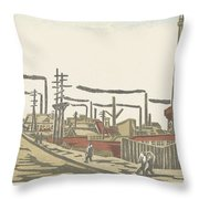 Fukagawa Bedrijventerrein  Maekawa Senpan  1945 Throw Pillow