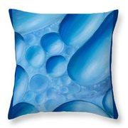 Fulfilment, Blue Abstract Art Throw Pillow