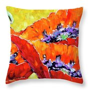 Full Bloom Poppies By Prankearts Fine Art Throw Pillow