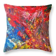 Full Color Particles Throw Pillow