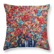 Full Flower Bouquet. Throw Pillow