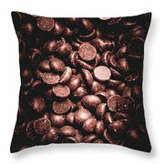 Full Frame Background Of Chocolate Chips Throw Pillow
