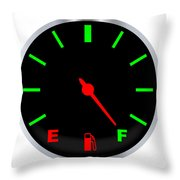 Full Fuel Gauge Throw Pillow