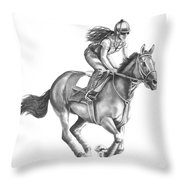 Full Gallop Throw Pillow