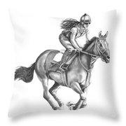 Full Gallop Throw Pillow