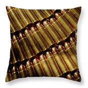 Full Metal Jackets Throw Pillow
