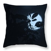 Full Moon And Tree Throw Pillow