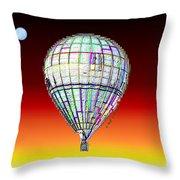 Full Moon Balloon Throw Pillow