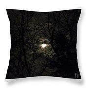 Full Moon In February Throw Pillow