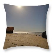 Full Moon Magic In Gale Beach Throw Pillow