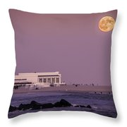 Full Moon Over Cape May Throw Pillow